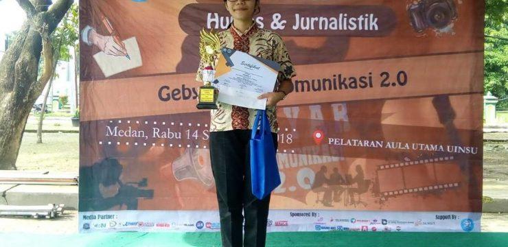 Juara 3 lomba publik speaking di UINSU
