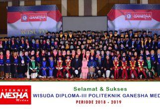 Wisuda Diploma III (D3) Politeknik Ganesha Medan
